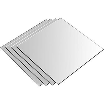 8 Stück Spiegelfliesen Spiegelkachel Fliesenspiegel Spiegel je 20,5x20,5cm Wanddekoration Wandspiegel -