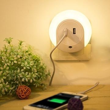 Ailiebhaus Led Nachtlicht mit bewegungsmelder Energieeinsparung Orientierungslicht Wandleuchte (Weiß usb) -