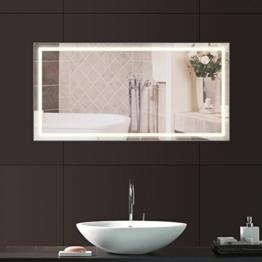 Anten® 23W Wandmontage Badspiegel mit Beleuchtung 100x60cm Neutralweiß 4000K Badezimmerspiegel Badspiegel mit LED Litch AC100-240V -