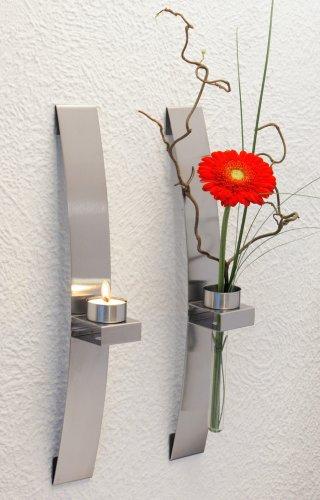CHG 3342-00 Wandleuchter/Blumenhalter 2-er Set 39,5 x 5 x 8 cm -