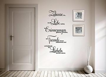 Grandora® W1124 Wandtattoo Spruch Zuhause ist wo die Liebe wohnt.. weiß 58 x 107 cm -
