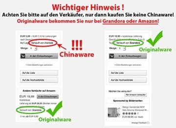 Grandora W862 Wandtattoo Spruch Topfgucker + 5 Vögel Küche schwarz 30 x 14 cm -