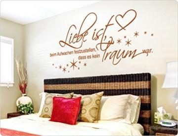 """I-love-Wandtattoo 11466 Wandtattoo Spruch """"Liebe ist, beim Aufwachen festzustellen, dass es kein Traum war."""" Schlafzimmer Wandsticker Wandaufkleber -"""