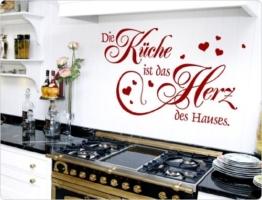 """I-love-Wandtattoo 11570 Wandtattoo """"Die Küche ist das Herz des Hauses."""" -"""