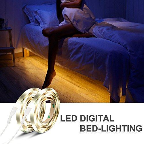 iwilcs bett licht 2 120cm 12v dc led streifen licht. Black Bedroom Furniture Sets. Home Design Ideas
