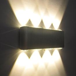 Kaleep LED 8W modern design wand Wandleuchte Wandlampe Wandleuchten Wandlampen Flurlampe Wandbeleuchtung Treppenleuchten Designerlampen innen Aluminum Warmeweiß -