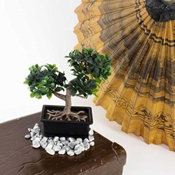 Künstlicher Buchs Bonsai in Dekoschale, 20 cm - Kunstbonsai -
