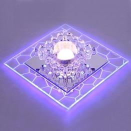 LED Kristall Deckenlampe, SENYANG Mini Stil Modern Décor Kristall Licht Main Warm Licht Hilfslicht Innenbeleuchtung für Korridor, Wohnzimmer, Schlafzimmer, Ausstellungshalle, Balkon (Weiß Blau) -
