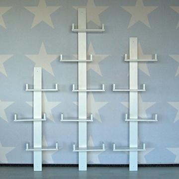 lounge-zone Wandregal Wandboard Bücherregal Hängeregal Schweberegal Board REGALUS weiß Holz Pinie 4 Fächer 148cm 14135 -
