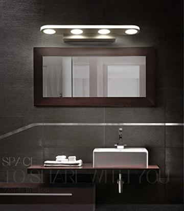 Mabor Badezimmerleuchten Vanity Licht, 12W Spiegellampen Anti-Fog & Wasserdicht Moderne Wandleuchte für Badezimmer, Schlafzimmer, Kommode, Wandmalerei , usw. (38CM, warmes Weiß) -