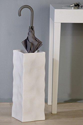 Origineller Schirmständer Move Ablage für Schirm Vase Eingangsbereich weiss -