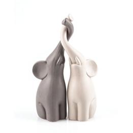Pajoma 54837 Verliebte Elefanten 2-er Set, Höhe 25,5 cm -