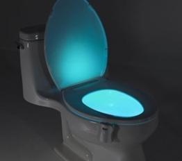 PowerLead T003 Bewegung aktiviert / Light Sensitive Automatische LED WC Nacht Motion Sensor Badezimmerlampe f?¡ì1r jeden WC Batteriebetriebene Nachtlicht?- -