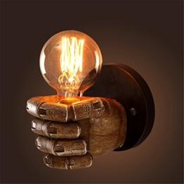 Retro Industrie Design Wandlampe im Loft-Style Esszimmer Vintage Retro Wohnzimmer Mode Kreative Persönlichkeit Harz Hand Form Wandleuchten,1 X E27 -