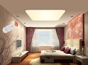 SAILUN 24W Dimmbar Ultraslim LED Deckenleuchte Modern Deckenlampe Flur Wohnzimmer Lampe Schlafzimmer Küche Energie Sparen Licht Wandleuchte Farbe Silber (24W Silber Dimmbar) -