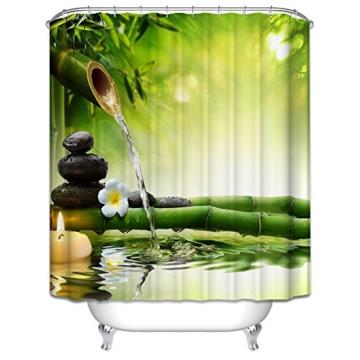 Starsglowing 180x180cm Duschvorhang Duschvorhänge Badewannenvorhang Anti-Schimmel wasserdichter mit 12 Duschvorhangringe für Bad Badezimmer (Elegant Design) -
