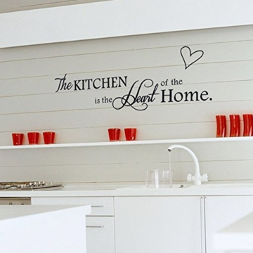 Ufengke The Kitchen Is The Heart Of The Home Wandtattoo Spruch