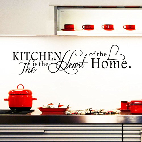 ufengke the kitchen is the heart of the home wandtattoo. Black Bedroom Furniture Sets. Home Design Ideas