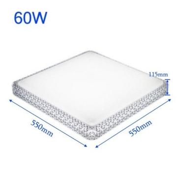VINGO® Design LED Warmweiß 2700K-3000K Quadrat Eckig Deckenleuchte 60W Starlight Effekt Badlampe Sternenhimmel Kristall Wandlampe -