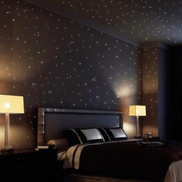 Wandtattoo Loft® Sternenhimmel 350 fluoreszierende Leuchtpunkte und ...