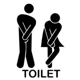 """WC Aufkleber Türaufkleber Badezimmer Toiletten Wandtattoo DIY 13*22cm Wandaufkleber PVC Abnehmbare Wanddeko Bad Waschraum Deko, """"Toilet"""" schwarz -"""