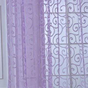 ZALAGO Schlaufenschal Schlaufengardine-Dekoschal-Vorhang Offsetdruck B 100* H 200 CM,Lila -