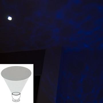 Zanasta Ozean Wellen LED Nachtlicht-Projektor Lampe Stimmungslicht mit Lautsprecher/Musik (AUX 3,5mm Klinkenbuchse) Stimmungslampe Weiß-Blau -