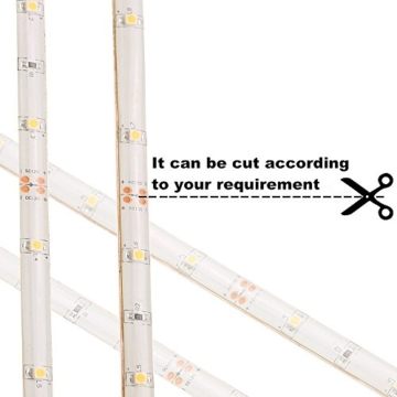 Amagle Flexible 3.28ft LED Streifen Licht, Motion Sensor Aktiviert Streifen Beleuchtung 4000K für Kinderbett Wandschrank , Flure, Schublade, Treppen (4 AAA Batterien Betrieben,ohne Batterie) (1 Stück, Neutralweiß) -