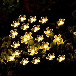 Battery Operated Blossom String Lights, Loende 18FT 50LED Fairy Flower Christmas Decorative Lighting for Indoor, Home, Bedroom, Outdoor, Garden, Patio, Holiday, Wedding, Party (warm white) -