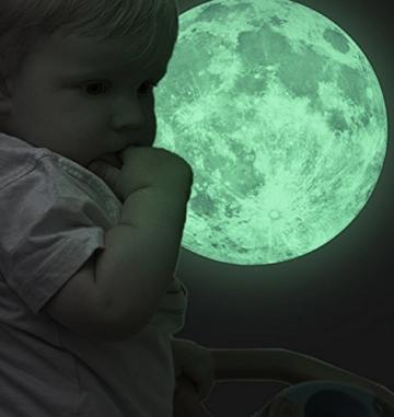 Extsud® Wandsticker Leuchtaufkleber Leuchtsticker Nymph und Stern / Mond fluoreszierend Wandaufkleber Hausdekoration für Schlafzimmer Wohnzimmer Kinderzimmer (Mond) -