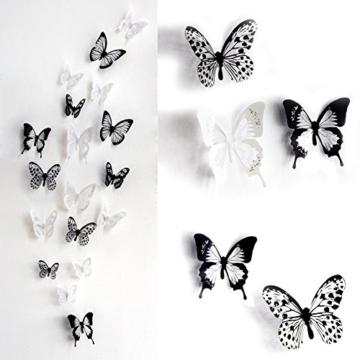 Haimoburg 36er-Set 3D Schmetterling Aufkleber Wandsticker Wandtattoo Wanddeko für Wohnung, Raumdekoration (36pc A) -
