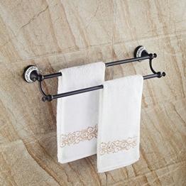 Hiendure® 60cm Messing Wandhalterung Bad Handtuch Regal Handtuchhalter, Schwarz -