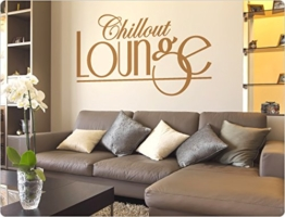 """I-love-Wandtattoo 10327 Wandtattoo Spruch """"Chillout Lounge"""" Wohnzimmer Wandaufkleber Wandsticker -"""