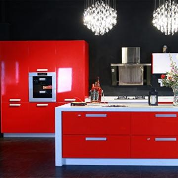 Kinlo Elegant 0.61*5M rot PVC Möbelfolie Küchenschrank-Aufkleber DIY ...