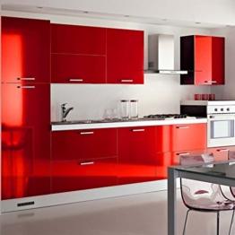 Kinlo Elegant 0.61*5M rot PVC Möbelfolie Küchenschrank-Aufkleber DIY Selbstklebend Küchenfolie Schrankfolie für Küche Schrank Möbel -