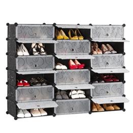 LANGRIA Schuhschrank 18 Kubus Schuhregal Regalsystem Garderobenschrank für Kleidung, Schuhe, Spielzeug und Bücher -