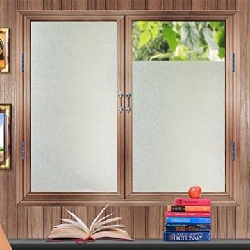 Lifetree 018 Fensterfolie Sichtschutzfolie Statisch Folie Selbstklebend 90*200cm /Milchglasfolie -