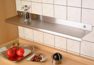M&M Wandregal 58 cm aus Edelstahl -