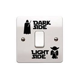 "Star-Wars-Aufkleber ""Dark Side – Light Side"" für Lichtschalter, Kinderzimmer -"