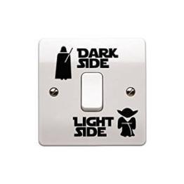 """Star-Wars-Aufkleber """"Dark Side – Light Side"""" für Lichtschalter, Kinderzimmer -"""