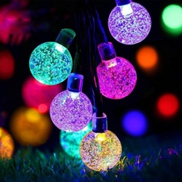 String Lights Outdoor Timer Battery Operated Fairy Globe Waterproof Lights for New Year, Valentine's Day Wedding Patio Garden Holiday Tree Decoration 8Mode 30 LED Balls 6.4M / 21ft Multi-Color -
