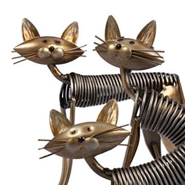 Tooarts Metall Katze Deko Skulptur Dekofigur zum Dekorieren -