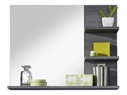 trendteam MI40121 Badezimmerspiegel mit Ablage Rauchsilber Nachbildung, BxHxT 72 x 57 x 17 cm -