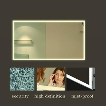 Anten 2 Jahre Garantie 19W LED Spiegelleuchte 4000K Neutralweiß IP65 LED Wand Spiegel mit Beleuchtung 80x60cm Rund Licht -