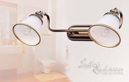 Dekorative 2er Badleuchte in Bronzeoptik IP20 2x E14 Spiegellicht Jugendstil Bad Badezimmer Beleuchtung Wandlampe Wandleuchte -