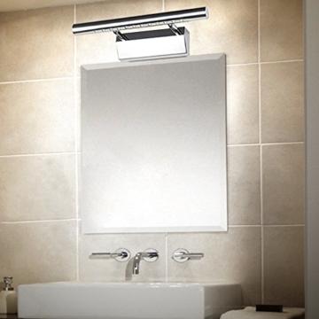 ELINKUME 3W LED Spiegel Licht Warmweiß 12 LEDs SMD5050 Edelstahl 180 ° Winkel Verstellbar LED Badezimmer Wandleuchte -