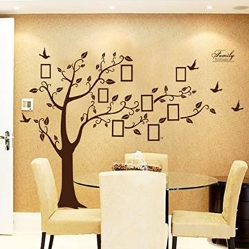 Enorm Schwarz Bilderrahmen Erinnerung Baum Ast Wandtattoo herausnehmbar Wand Dekor Wandaufkleber für Dekoration Schlafzimmer, Wohnzimmer (BlackL) (Brown) -