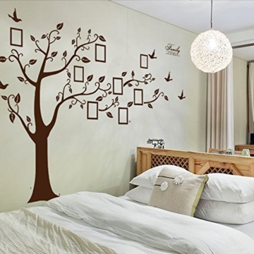 enorm schwarz bilderrahmen erinnerung baum ast wandtattoo herausnehmbar wand dekor wandaufkleber. Black Bedroom Furniture Sets. Home Design Ideas