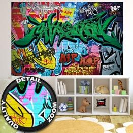 Fototapete Graffitti Wand-dekoration - Wandbild Street Art Poster-Motiv by GREAT ART (210 x 140 cm) -
