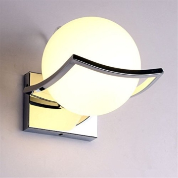 Geoco Glaskugel LED Wandleuchten Modern wandleuchte innen,Metall Edelstahl Halterung ,wandleuchten wohnzimmer ,Schlafzimmer,Gang -